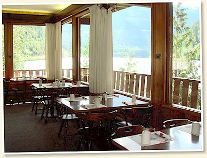 Take In The Panoramic View Of Lake Three Valleys From Monashee Dining Room